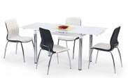 Jídelní stůl L 31 (sklo - bílá/ocel)