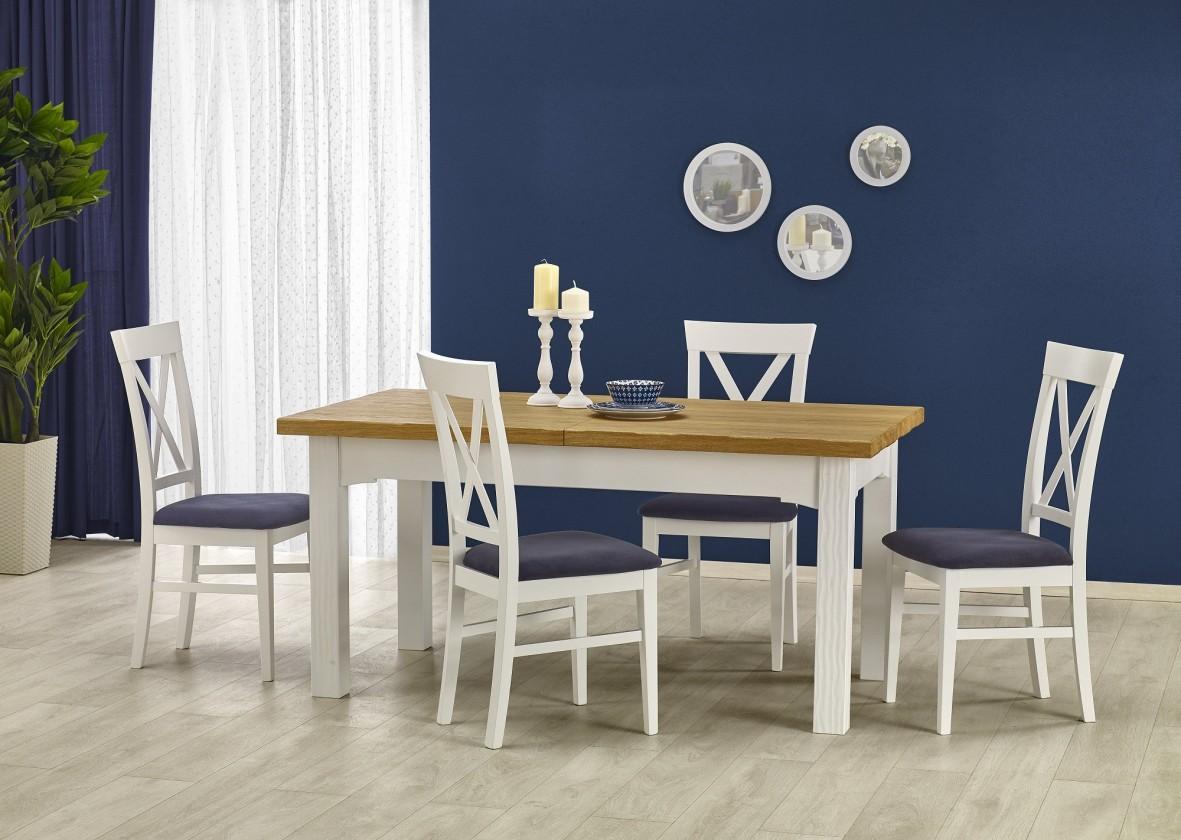 Jídelní stůl Leonardo - Jídelní rozkládací stůl (masiv)