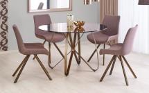 Jídelní stůl Liam (hnědá, zlatá)