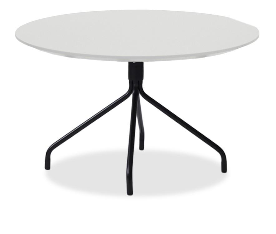 Jídelní stůl LOLA 9306-001+EGO 9319-824 (bílá,černá)