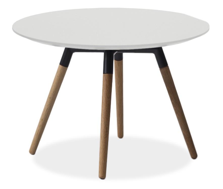 Jídelní stůl LOLA 9306-001+FIDO 9315-154 (bílá,černá,dub)