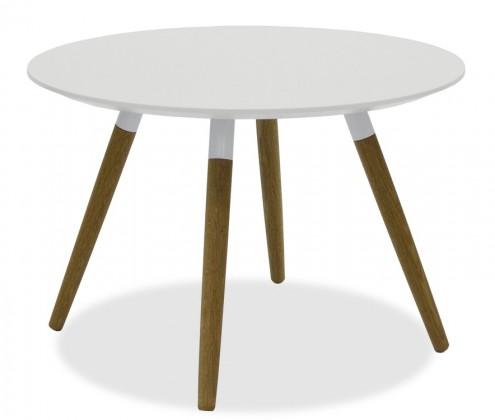 Jídelní stůl LOLA 9306-001+FIDO 9315-454 (bílá,dub)