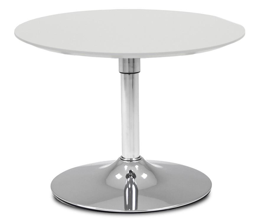 Jídelní stůl LOLA 9306-001+TRUMPET 9341-091 (bílá,chrom)