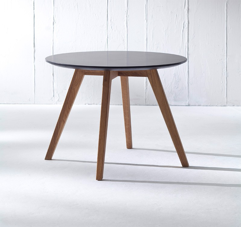 Jídelní stůl LOLA 9306-024+BESS 9317-054 (černá,dub)