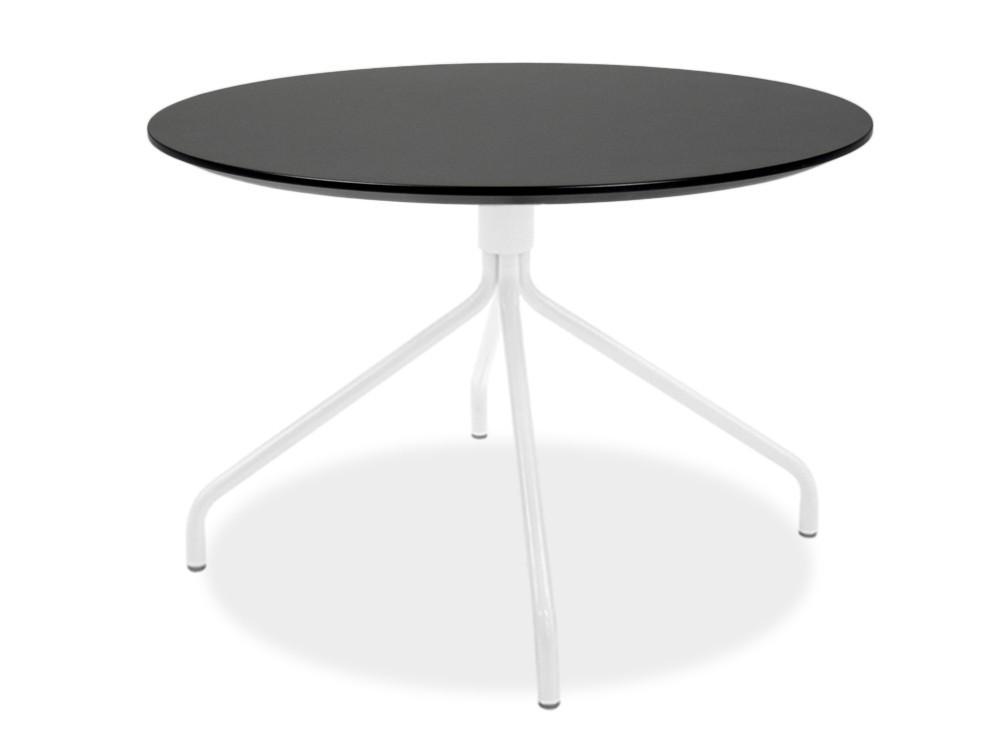Jídelní stůl LOLA 9306-024+EGO 9319-801 (černá,bílá)