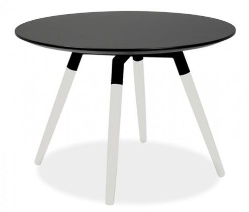 Jídelní stůl LOLA 9306-024+FIDO 9315-101 (černá,bílá)