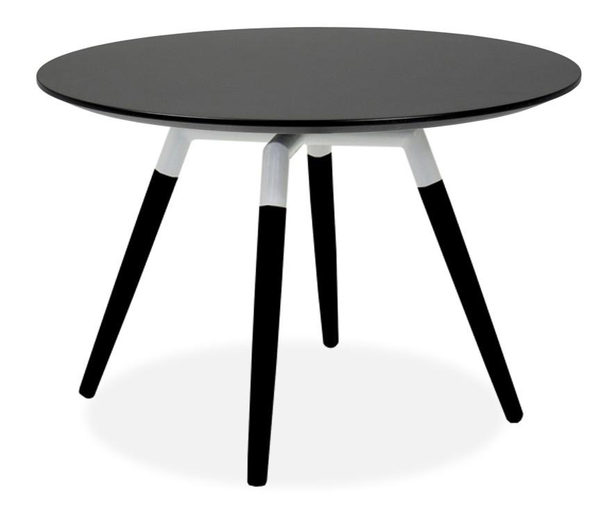 Jídelní stůl LOLA 9306-024+FIDO 9315-424 (černá,bílá)