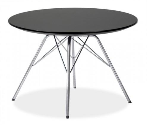 Jídelní stůl LOLA 9306-024+PORGY 9316-091 (černá,chrom)