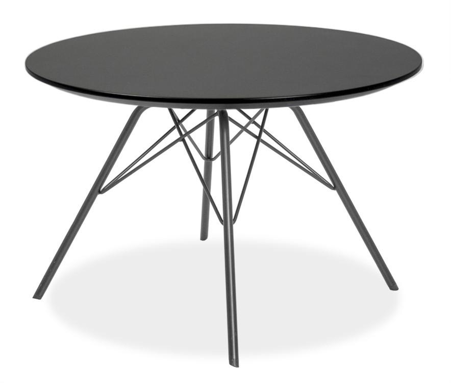 Jídelní stůl LOLA 9306-024+PORGY 9316-824 (černá)