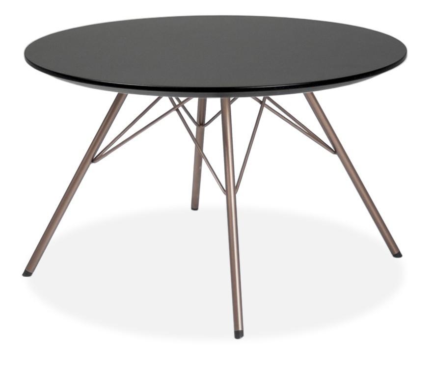 Jídelní stůl LOLA 9306-024+PORGY 9316-888 (černá,bronz)