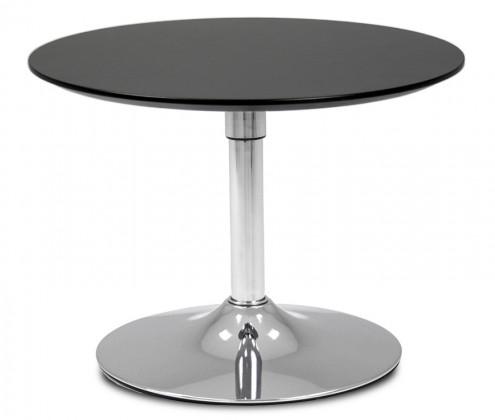 Jídelní stůl LOLA 9306-024+TRUMPET 9341-091 (černá,chrom)