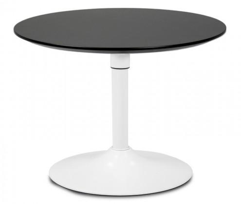Jídelní stůl LOLA 9306-024+TRUMPET 9341-801 (černá,bílá)