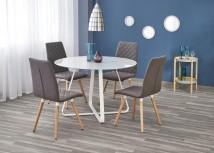 Jídelní stůl Looper - prům.115x76 cm (bílá)