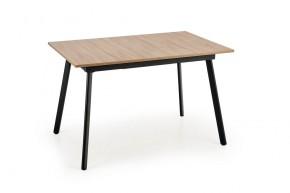 Jídelní stůl Lopez rozkládací (dub sonoma, šedá, černá)