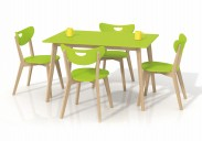 Jídelní stůl Lorrita (zelená/masiv)