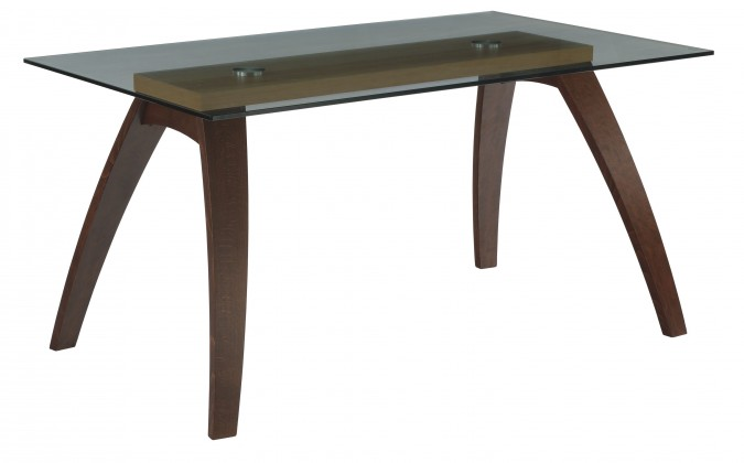 Jídelní stůl LURAS(buk / sklo, moření ořech / buk)
