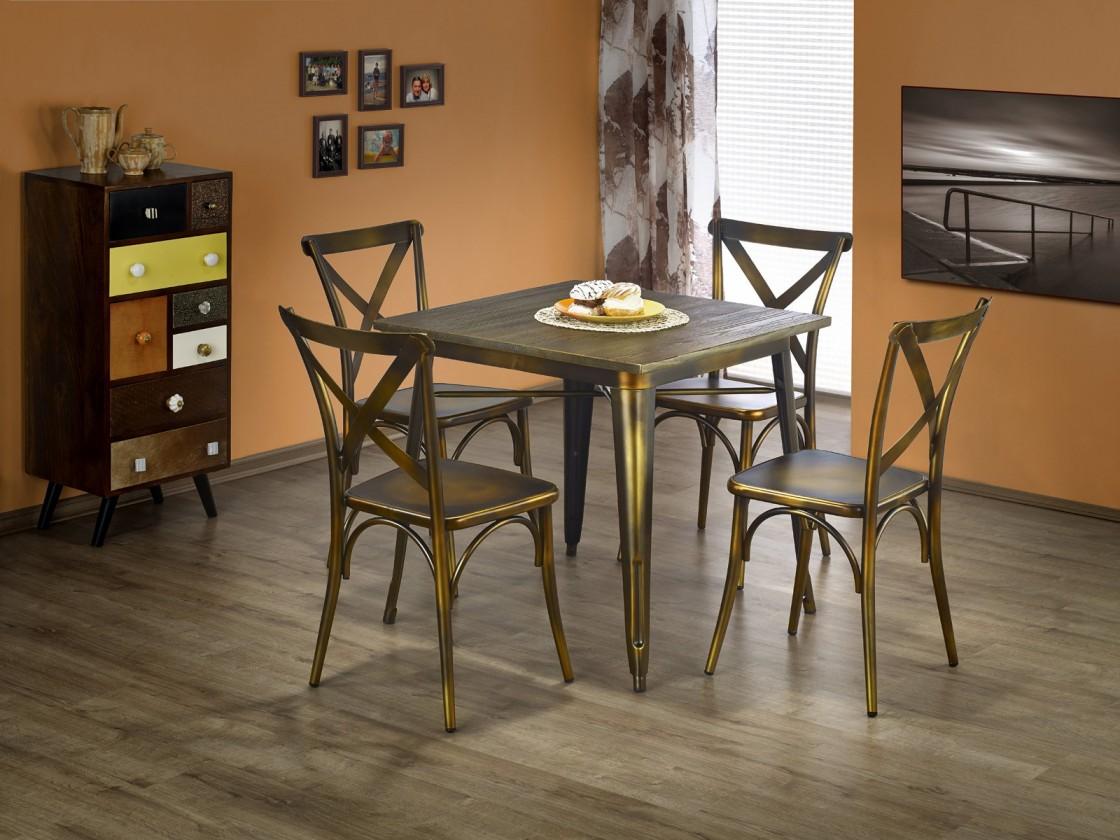 Jídelní stůl Magnum - Jídelní stůl čtverec 60x60 cm (měděná)