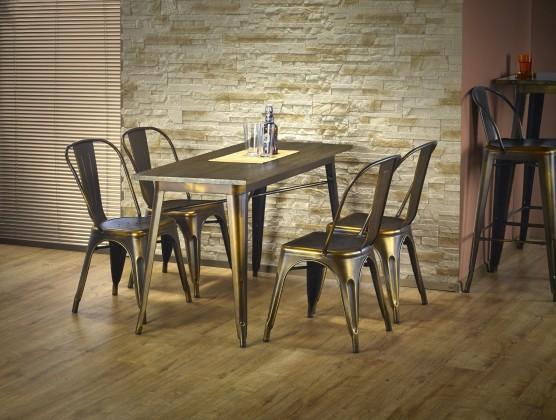 Jídelní stůl Magnum - Jídelní stůl obdélník 120x60 cm (měděná)