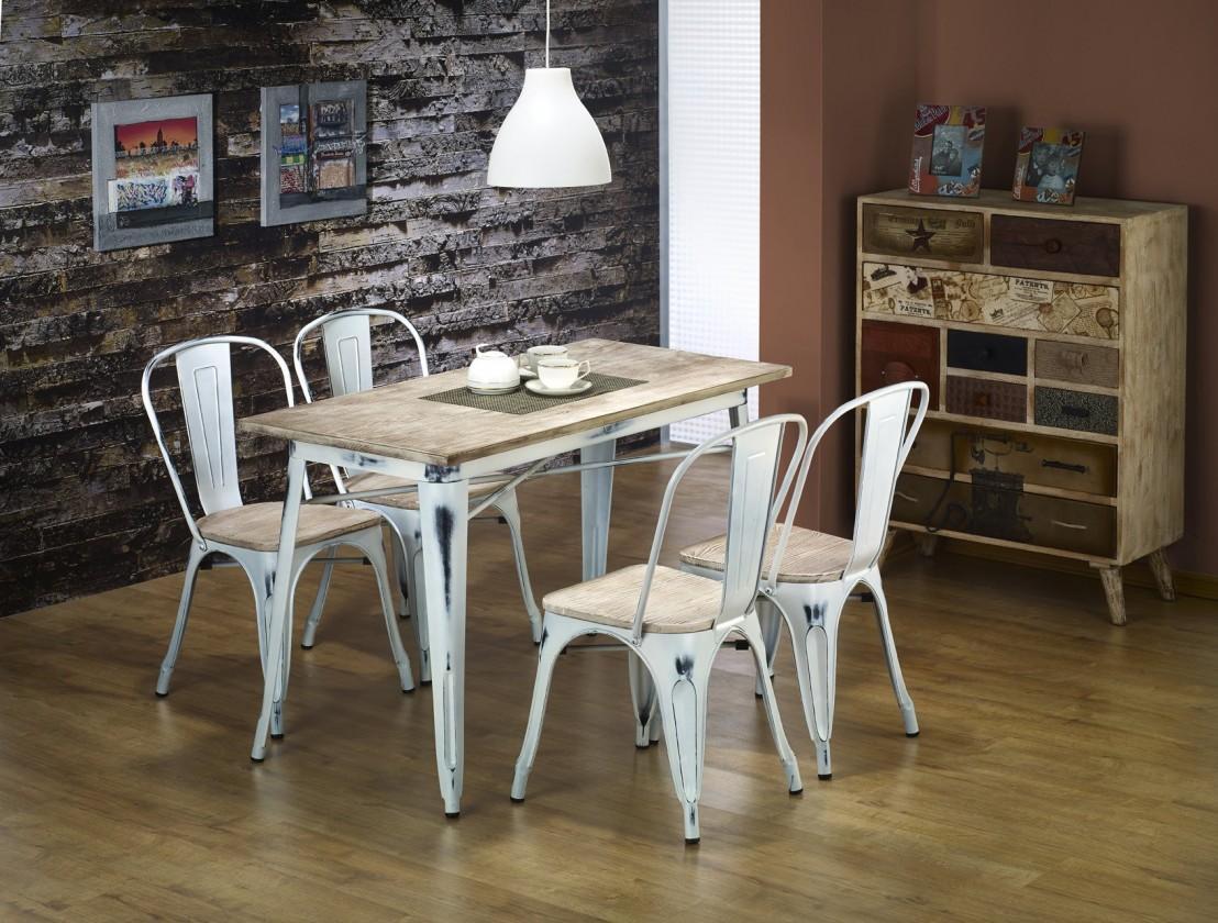 Jídelní stůl Magnum - Jídelní stůl obdélník 120x60 cm (retro bílá)