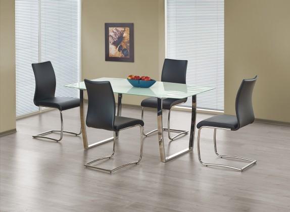 Jídelní stůl Marcus  - jídelní stůl (sklo - bílá/ocel)