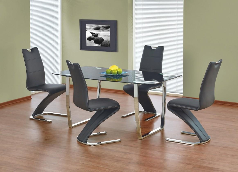 Jídelní stůl Marcus  - jídelní stůl (sklo - černá/ocel)