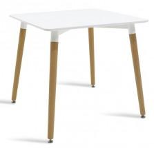 Jídelní stůl Neli (80x76x80 cm, bílá)