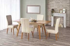 Jídelní stůl Orchid - rozkládací (dub medový/béžová)