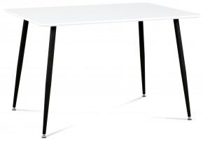Jídelní stůl Pablo - 120x80 cm (bílý mat/nohy kovové černý lak)