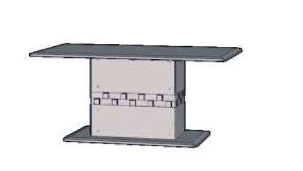 Jídelní stůl Palais PLST02 (Dub sonoma)