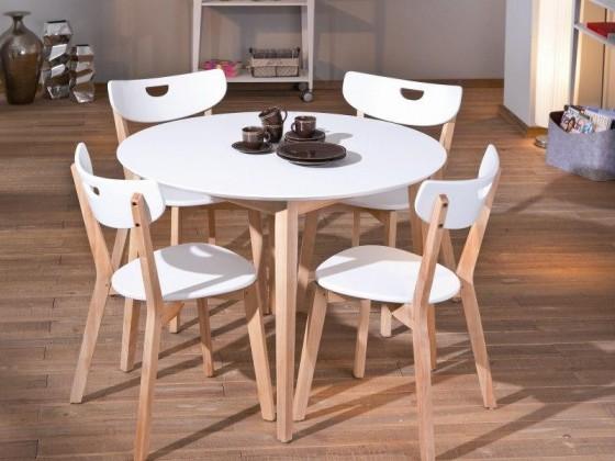 Jídelní stůl Peppita  (bílá,masiv)