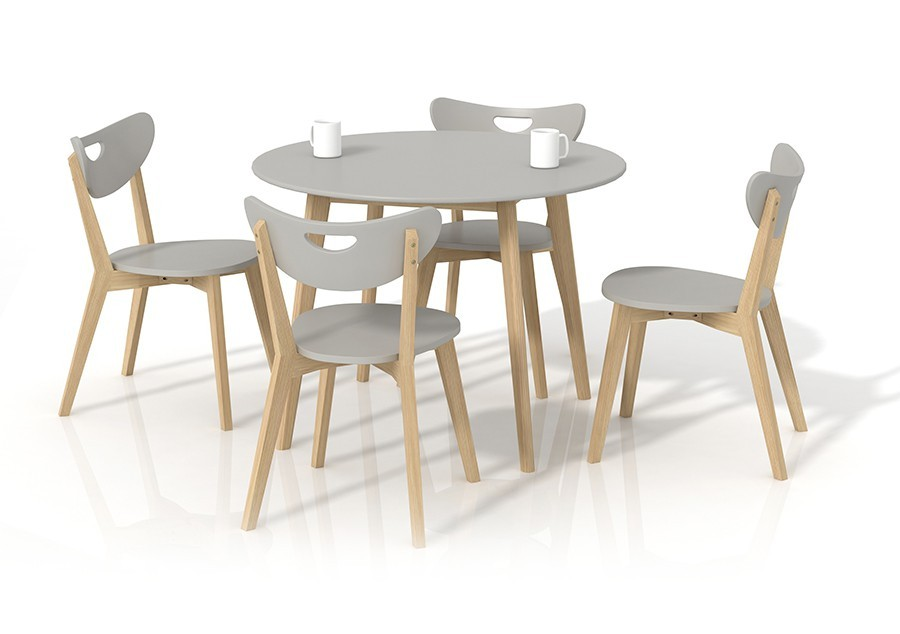 Jídelní stůl Peppita  (šedá,masiv)