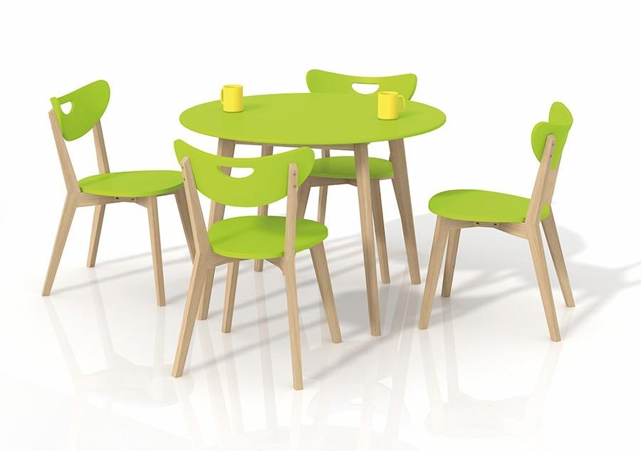 Jídelní stůl Peppita  (zelená,masiv)