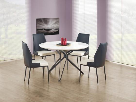 Jídelní stůl Pixel  (bílá,černá)