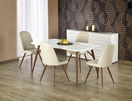 Jídelní stůl Richard - Jídelní stůl 150-190x90 cm (bílý lak, antická třešeň)