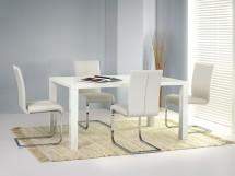 Jídelní stůl Ronald, rozkládací 80x120-160 (bílá) - II. jakost
