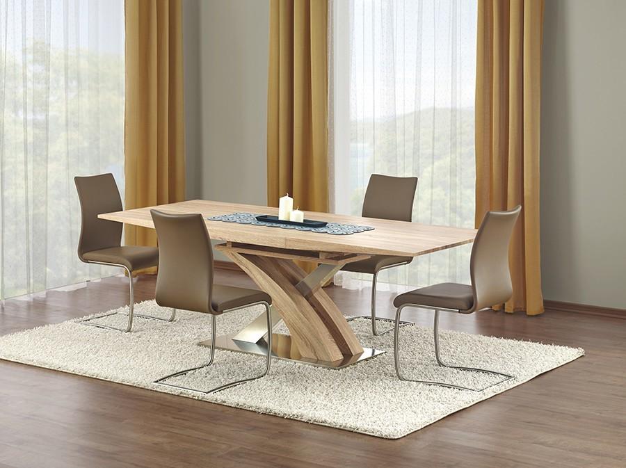 Jídelní stůl Sandor  (dub sonoma,nerez)