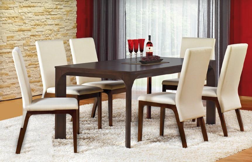 Jídelní stůl Santiago - Jídelní stůl (MDF s přírodní dýhou/wenge)