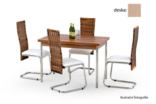 Jídelní stůl Swift (dub sonoma / chrom)