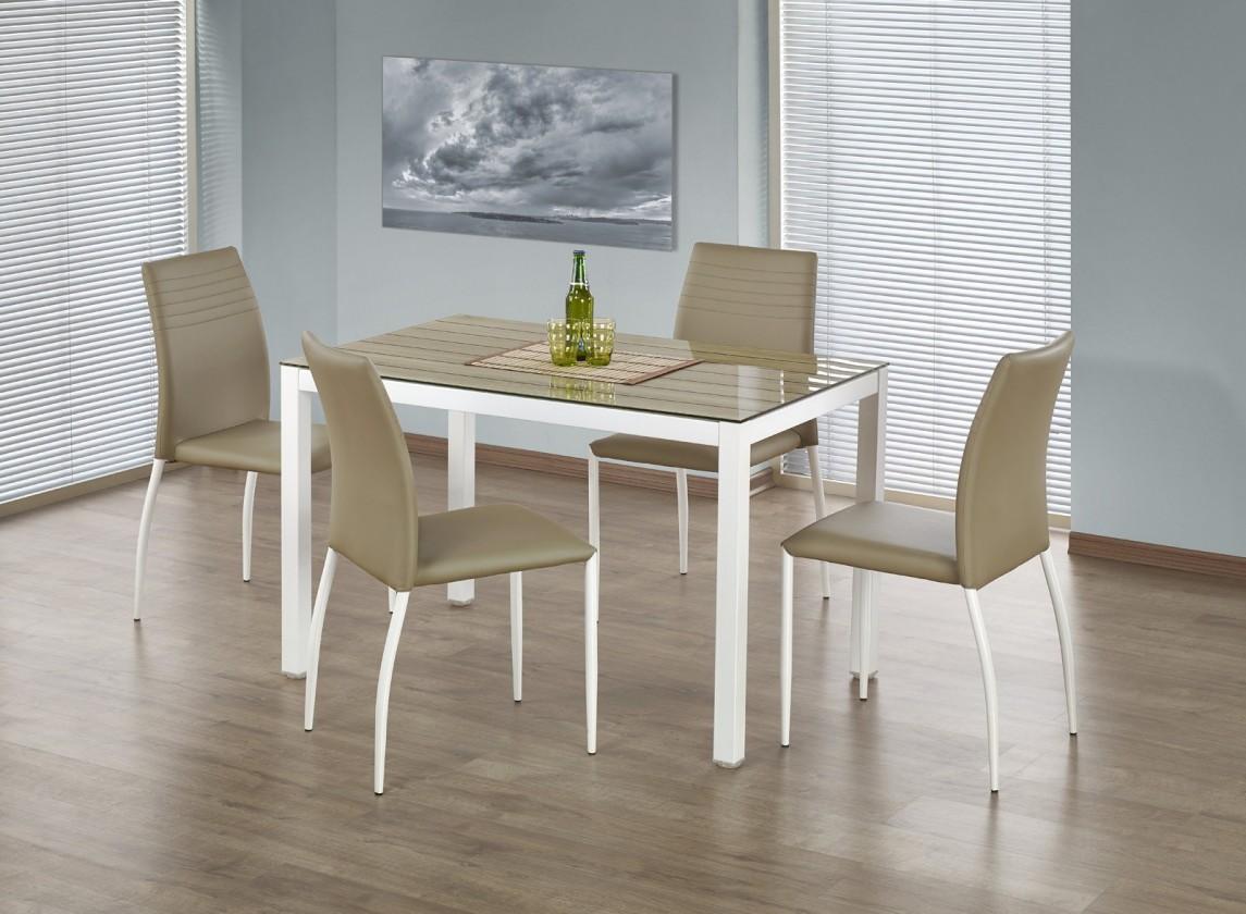 Jídelní stůl Timber - Jídelní stůl 120x75 cm (dub sonoma, bílá)