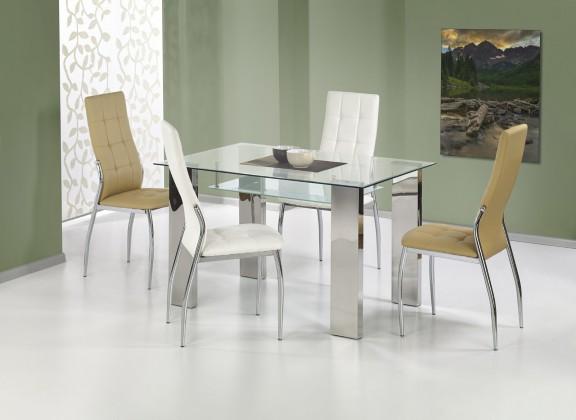 Jídelní stůl Topaz - Jídelní stůl 120x80 cm (ocel, čiré sklo)