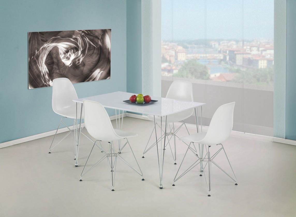 Jídelní stůl Twister  - jídelní stůl (bílá/ocel)