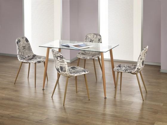 Jídelní stůl Ulster - Jídelní stůl obdélník 120x70 cm (olše, čiré sklo)