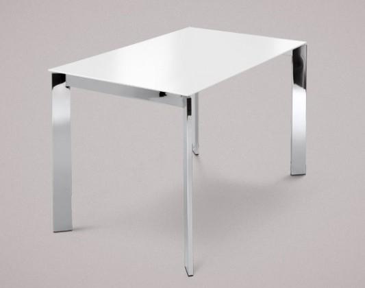 Jídelní stůl Universe-110 - Jídelní stůl (chrom, sklo extra bílé)
