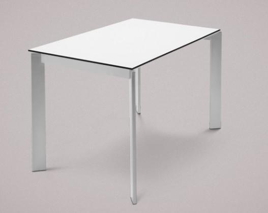 Jídelní stůl Universe-110 - Jídelní stůl (hliník, lamino bílé)