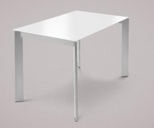 Jídelní stůl Universe-110 - Jídelní stůl (hliník, sklo extra bílé)