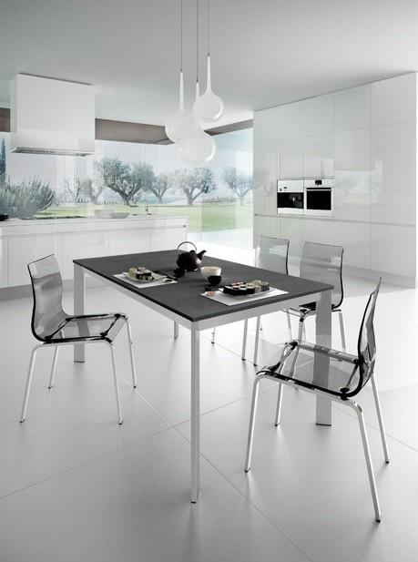 Jídelní stůl Universe 110 - Jídelní stůl (šedá břidlice, hliník)