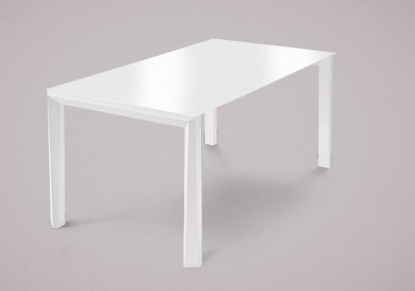Jídelní stůl Universe-130 - Jídelní stůl (bílá mat struk., sklo extra bílé)