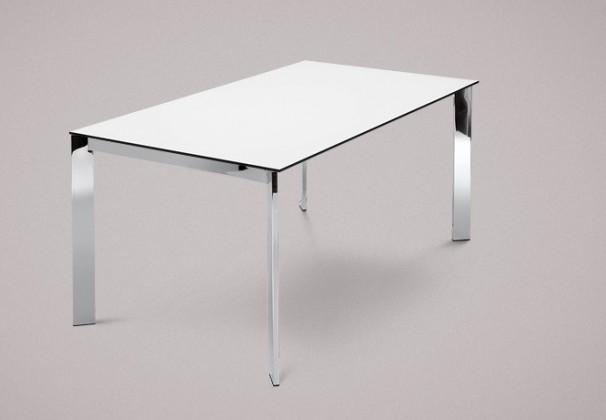 Jídelní stůl Universe-130 - Jídelní stůl (chrom, lamino bílé)