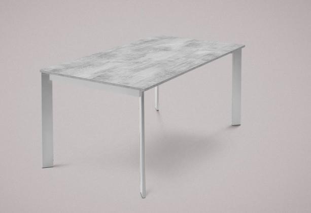 Jídelní stůl Universe-130 - Jídelní stůl (hliník, lamino cement)