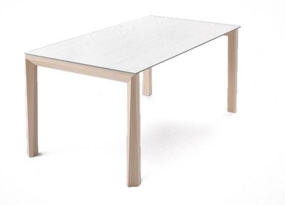 Jídelní stůl Universe-130 - Jídelní stůl (jasan, bílá mat struk.)